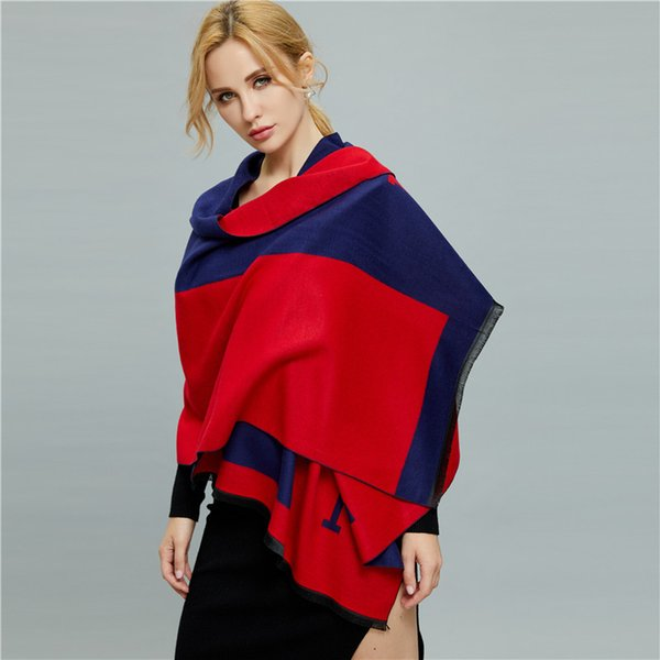 best selling Brand Designer Scarf Two Sided Women Luxury Thickening Blanket Keep Warm Letter H Print Comfortable Soft Imitation Cashmere Blankets 27fz jj