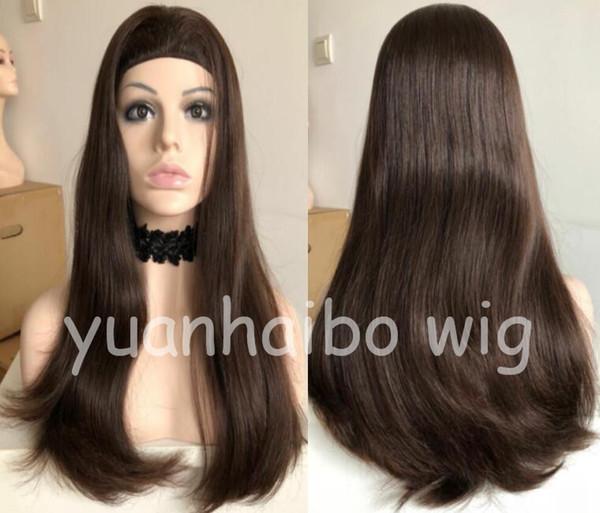 Bant Güz Peruk 10A İnsan Saç En Iyi Sheitels 4x4 Ipek Üst Yahudi Peruk En Iyi Bakire Malezya Saç Kosher Peruk Kapaksız Peruk Ücretsiz nakliye