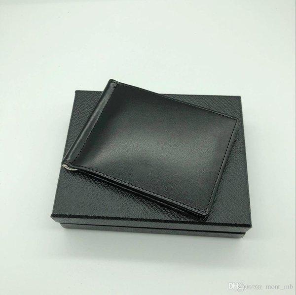 Bestseller Herren Leder Luxus M B Kartenetui Brieftasche Clip Schwarz Kurze Kreditkartenetui MT Pocket Hohe Qualität Brieftasche