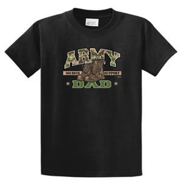 Quality Shirts New Style lUS Army Dad Men's Printed T Shirt and Big and Tall Sizes Short Sleeve Printed O-Neck Tee For Men