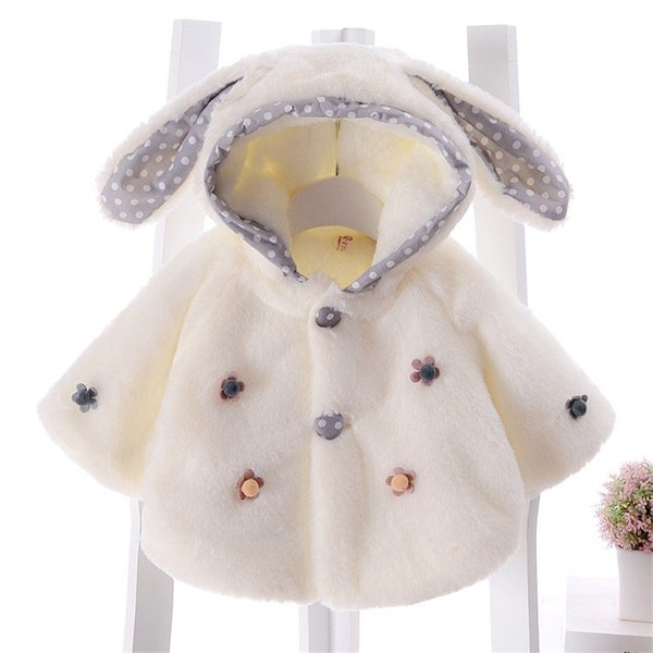 Infant Baby Poncho Cloak 2018 Autumn Winter Girl Rabbit Hooded Jacket Coats Kids Shawl Outwear