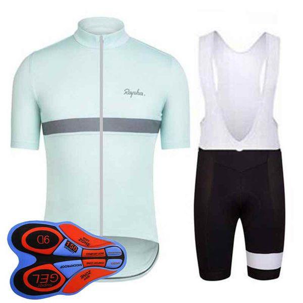 Rapha team Cycling Short Sleeves jersey (bib) shorts sets Summer MEN Cycling Outdoor Bike Sports Cycling Clothing 92803J