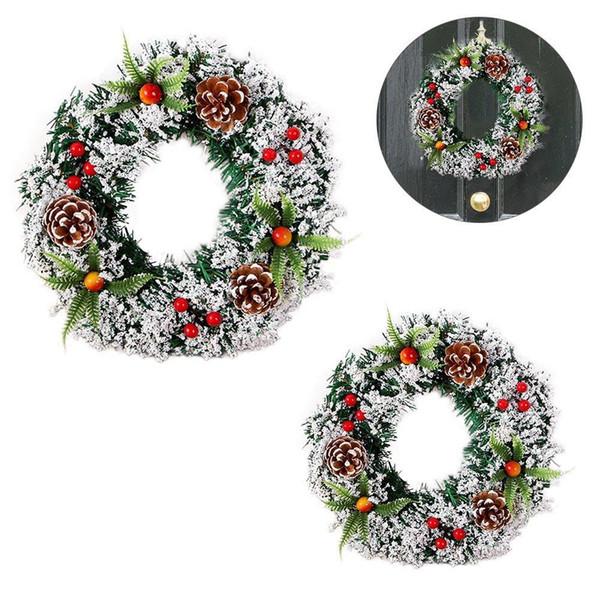2018 Nouvelle Main Guirlande De Noël En Bois De Noël Décor Pour La Maison Santa Bonhomme De Neige Grand Arbre Cadeau De Noël De Noël Ornement Pendentif Y18102609