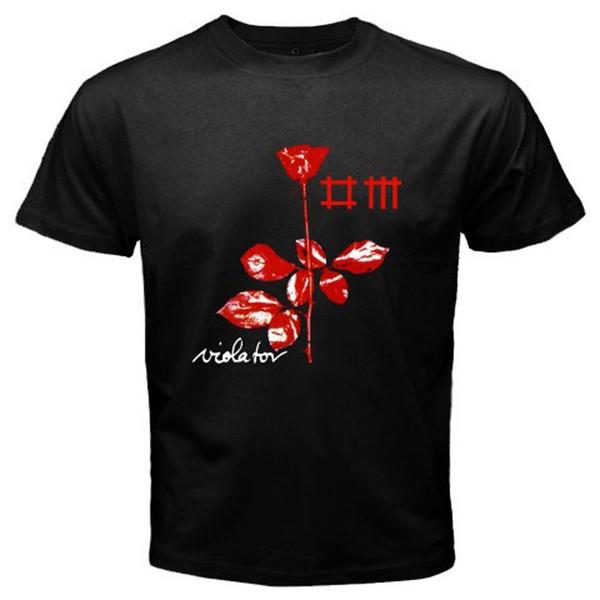 Design Your Own T Shirt Men's Short Sleeve Zomer Crew Neck Depeche Mode Violator Rock Band Summer 2017 Printed T Shirt T Shirts