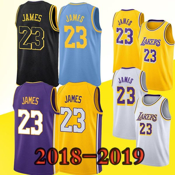 check out aa3a1 12c66 2018 Los Angeles Lakers Jerseys 23 Lebron James 2019 New Youth Men Top  Quality Jersey From Greena_yan, $18.39 | Dhgate.Com