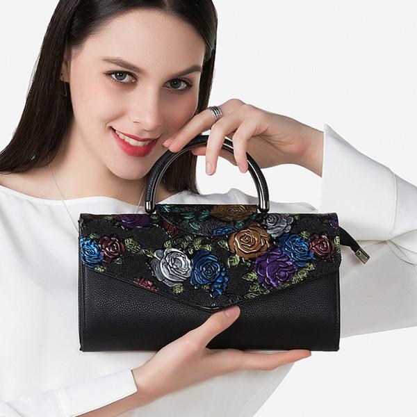 Women Leather Handbags 2018 New Fashion Europe and America Style Women Handbag Female Painted Shoulder Bags Female Crossbody Bag