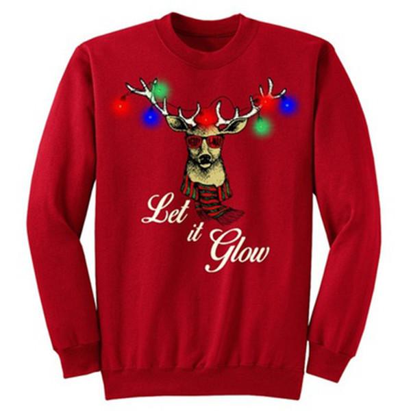 Men Women Winter Hoodies Sweatshirts Santa Claus Christmas Elk Snowman Print Cotton Pullover Cheap Casual Tops Hoody
