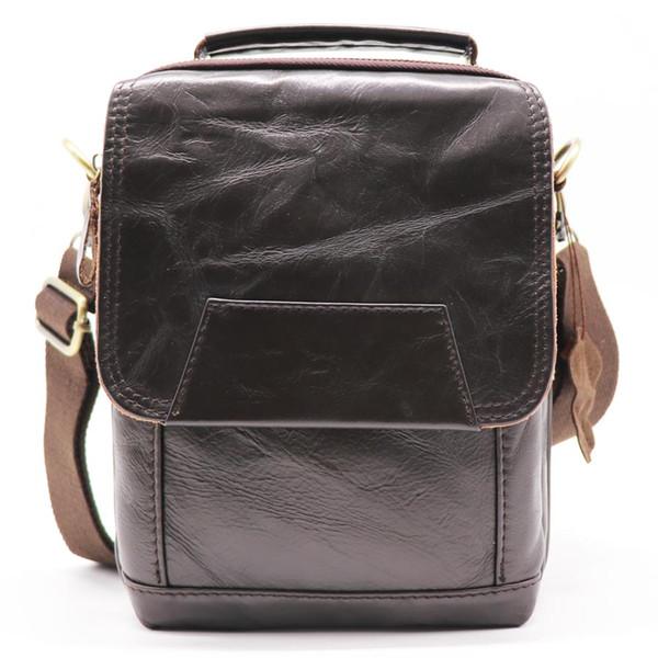 Brand New Genuine Leather 8' Handle Pack Male Handbag Men's Cross Body Shoulder Bag Cowhide Messenger Bag For Summer Travel