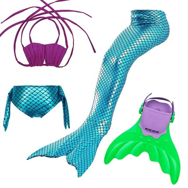 Christmas Gifts for Girls Swimmable Mermaid Tail with Monofin Children Mermaid Tail Costume Halloween Costume Kids Children