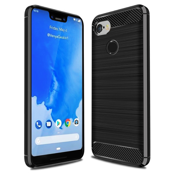 on sale 478a6 9b840 Carbon Fiber Case For Google Pixel 3 Ultra Thin Soft TPU Back Cover Phone  Case For Google Pixel 3 Pixel 3XL Cell Phone Pouch Personalized Cell Phone  ...