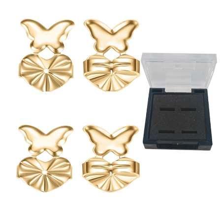 top popular Romad Magic Bax Earring Backs Support wih Box Hypoallergenic Earrings Accessories Lifts for Women Jewelry Butterfly Shape Z3 2019