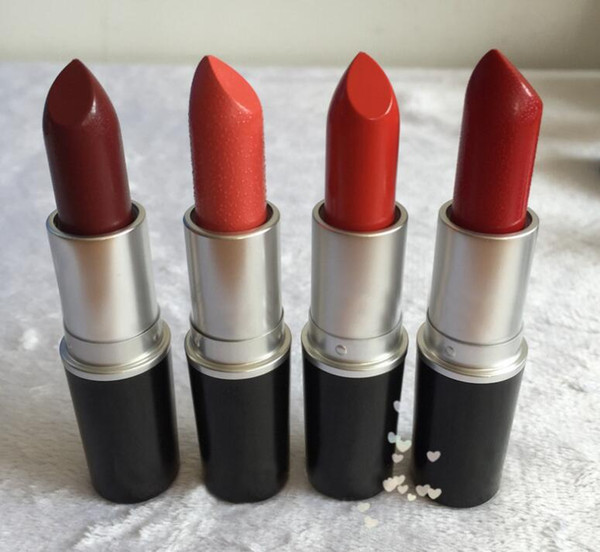 Brand NEW matte Lipstick M Makeup Luster Retro Lipsticks Frost Sexy Matte Lipsticks 3g 24 colors lipsticks with English Name
