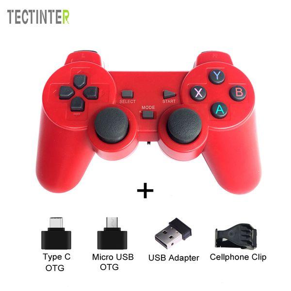 2.4G Wireless Gamepad USB Controller per Joypad PS3 Gioco Joysitck per Android Phone TV Windows Vista / 7/8/10