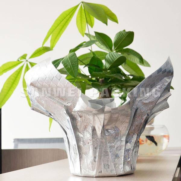 PP Pot Packaging Plastic Film Sleeves Flower Cover (F-34)
