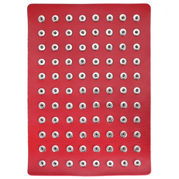 New 12mm Snap Button Jewelry Display PU Leather Mini Snap Display Holders Fit 88pcs 12mm Snap Buttons Wholesale Display Stand