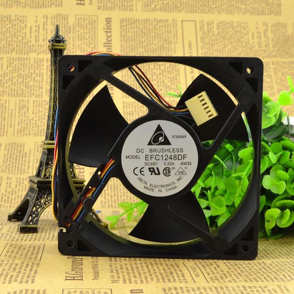 For brand new original / DELTA 12032 48V 0.33A 12 cm four-line fan EFC1248DF