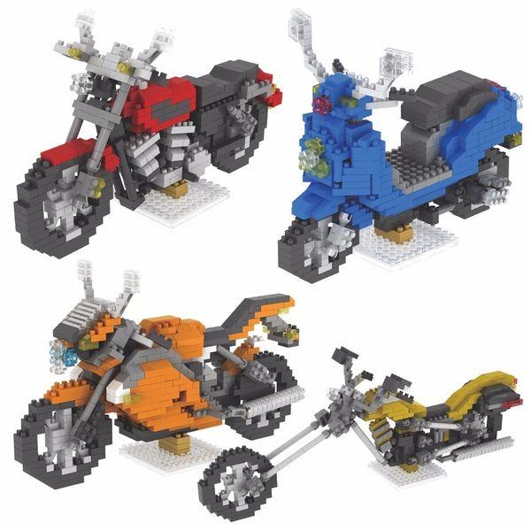 Motorcycle Series Small Diamond Blocks Mini Assembly Plastic Block Toys