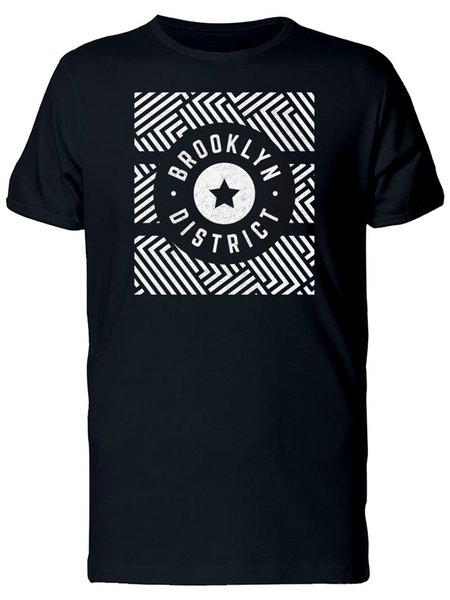 Vintage Retro Geometric Pattern Men's Tee -Image by Shutterstock Personality 2018 Brand Tee Shirt Casual Man Short Sleeve Male Tees