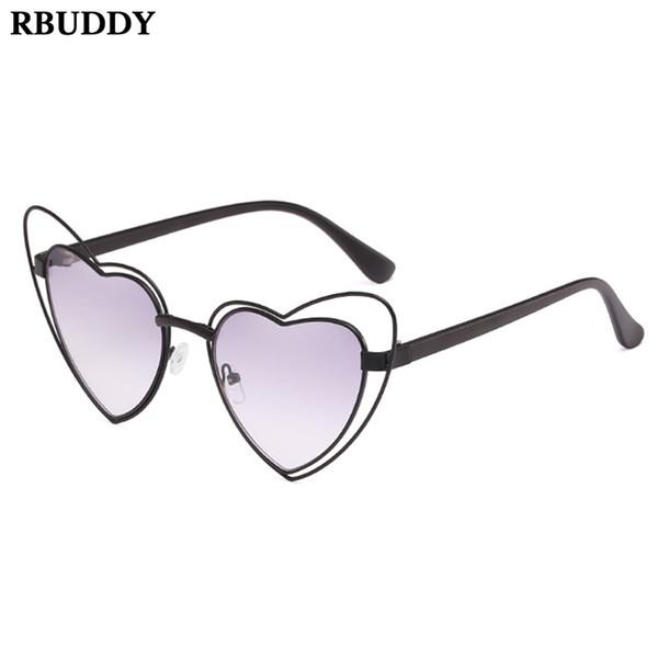 Amor Coração Transparente Oceano Olho de Gato Óculos De Sol Das Mulheres  Sombra Senhoras Óculos de e5f79bba92
