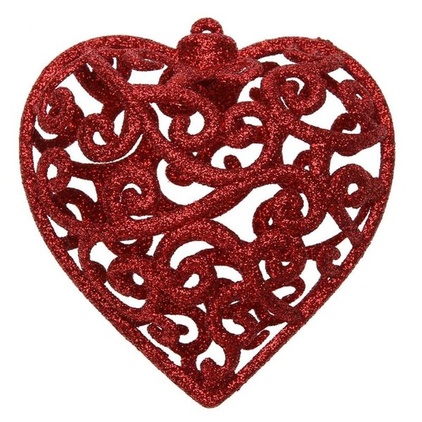 Christmas Tree Decoration Pendant Fashion Shiny 3D Snowflake/Heart Shape Decor Glitter Ornament Christmas Decoration for Home