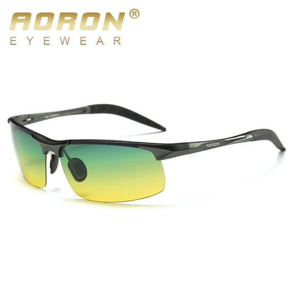 Aoron marca de los hombres de visión nocturna gafas de sol polarizadas de conducción gafas de sol para las mujeres venta caliente calidad gafas gafas 8177N