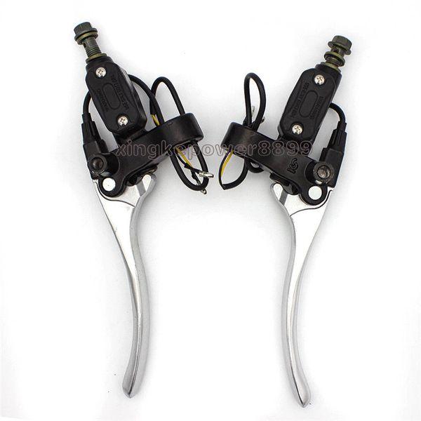 "Silver 7/8"" 22MM Hydraulic Brake Clutch Master Cylinder Levers Dirt Bike Motorcycle"
