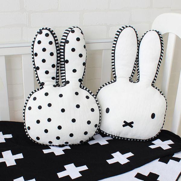 Baby Plush Toy Rabbit Shape Cushion Nursing Pillows For Children Room Decoration Infant Bunny Photo Props Birthday Gift 40x27cm