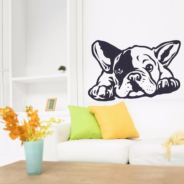 Removable French Bulldog Dog Wall Decals Carving Wall Sticker for living room Bedroom home Wall decoration