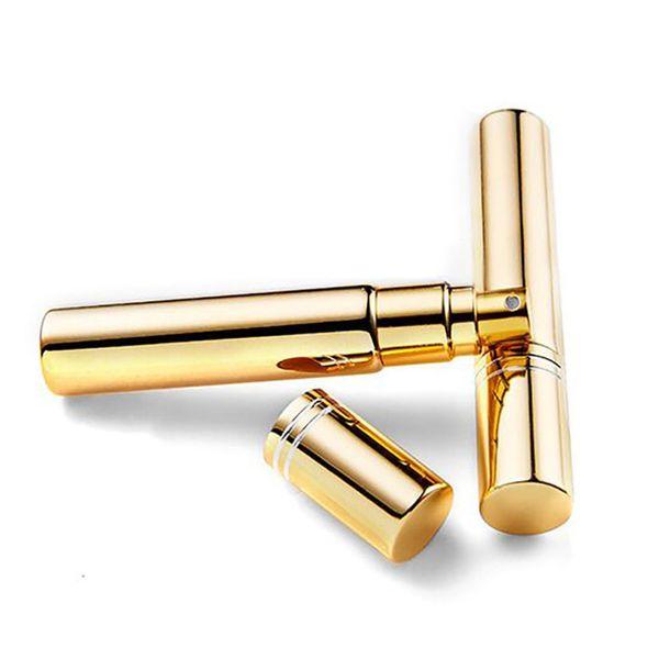 3 Tamaño Nuevo Portátil Mini Chapado En Oro de Viaje Perfume Atomizador Dispensador Botellas de Perfume Envases Cosméticos Belleza Regalos
