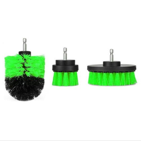 top popular 3 pcs Power Scrubber Brush Set for Bathroom Drill Scrubber Brush for Cleaning Cordless Drill Attachment Kit Power Scrub Brush 2021