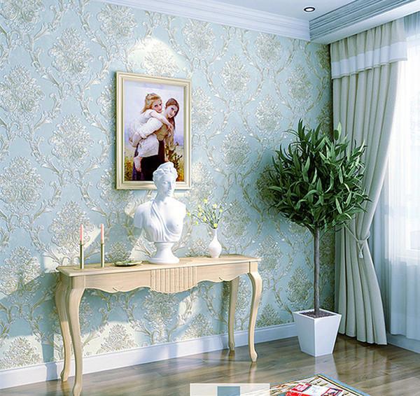 Großhandel 2018 Refined Europäischen Stil Tapete Schlafzimmer Und  Wohnzimmer Hintergrund Geprägte Stereo TV Luxus Tapeten Non Woven Optional  ...