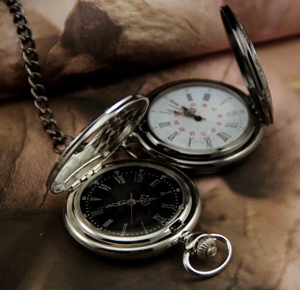 Classic Roman Numerals Pocket Watch Vintage Retro Quartz Roman Handing Watch Wind Up Powered Aolly With Waist Chain Necklace Chain AAA114