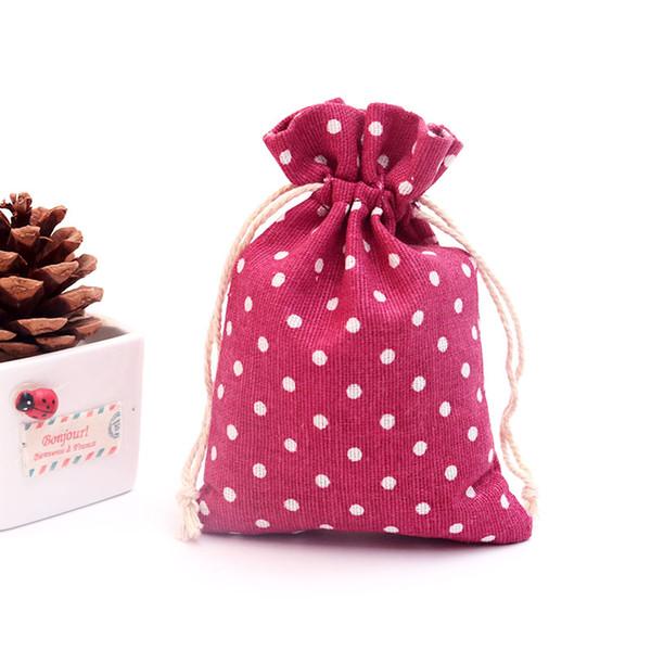 Горячие продажи 100 шт./лот точек печати Енот сумки 10x14 см небольшие ювелирные конфеты подарки упаковка сумки партия пользу шнурок подарочная сумка