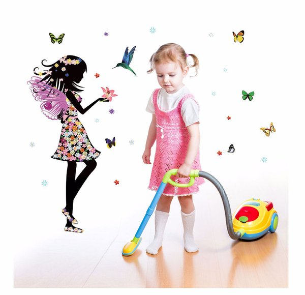 Butterfly&Angel Wall Sticker Wallpaper Wall Picture Art Vintage Room Home Decor Kitchen Accessories Household Craft Suppllies