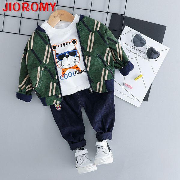 JIOROMY 2018 abbigliamento per bambini autunno nuovo ragazzo del fumetto vestito di tigre per bambini velluto a coste vestito di autunno distribuzione a tre pezzi 805 a1