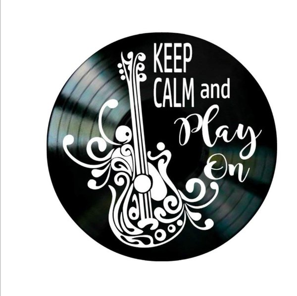 guitar wall decor.htm diy gift for 2018 keep calm and play on quote on a vinyl record  diy gift for 2018 keep calm and play on