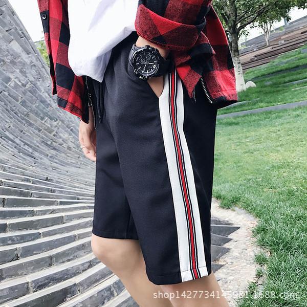HOT 2018 Summer men's casual pants wind color ribbon teenagers students Elastic Waist hip hop loose joggers pants Men