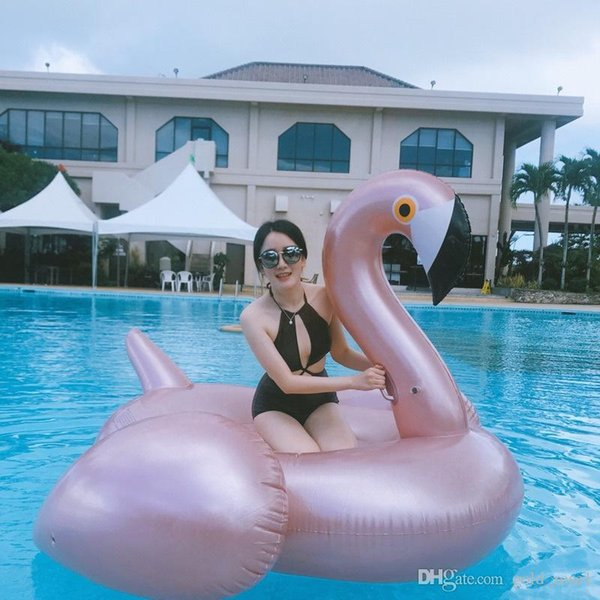 Inflatable Flamingo Float 180*190*130CM ECO-Friendly PVC Summer Outdoor Ride-On Pool Toys Swimming Water Raft Fun Adult Kid Swim Party Toys