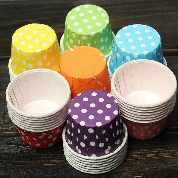 100pcs Colorful cupcake paper muffin cases Cake box Cup tray cake mold decorating tools cupcake liner baking cup 5x3.8z3cm