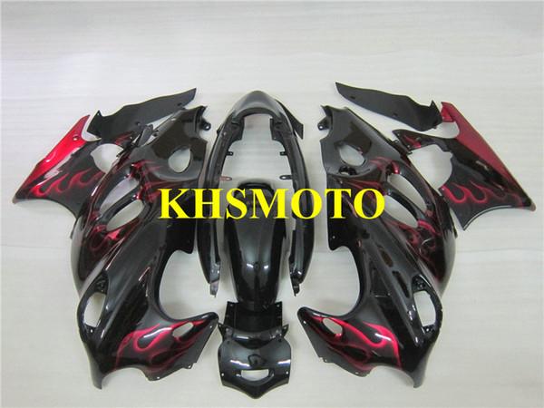 Motorcycle Fairings kit For SUZUKI KATANA GSXF600 GSX600F 2003 2006 GSXF 600 03 05 06 GSX 600F Red flames black Fairing set+gifts SY15