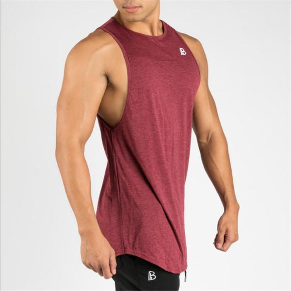 Shirt Sport Running t-shirt Men Fitness Bodybuilding Gold Gyms Stringer Mens Singlets Cotton Sportswear Gym Men Shirt Summer Top