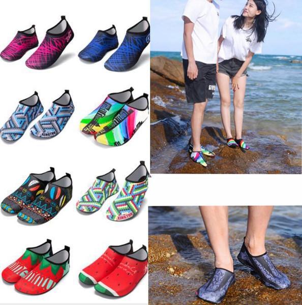 Zapatos de playa de buceo antideslizantes zapatos de piel de deportes acuáticos descalzos Calcetines de aguamarina adultos que nadan zapatos de ejercicio de yoga de surf KKA5546