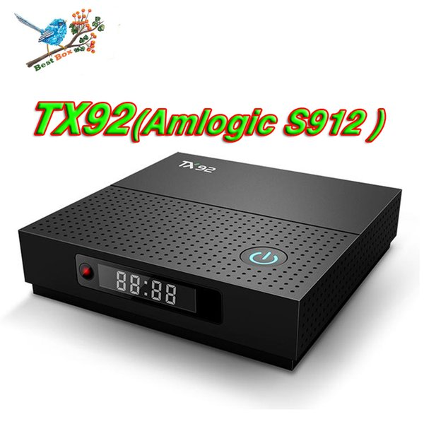 Wholesale TX92 Android 7.1 Smart TV Box 3G 32G Amlogic S912 Octa Core Bluetooth 2.4G/5.8G Wifi 1000M LAN 2G 16G Media Player with Display