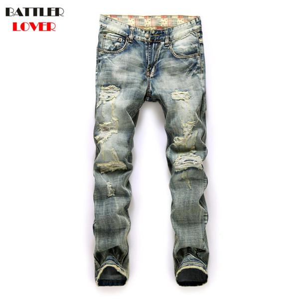 Moteur Jeans Hommes Biker Street Dance Jeans Pantalon De Designer De Luxe Hommes Hip Hop Déchiré Trou Pantalon Hommes Casual Marque Pantalon