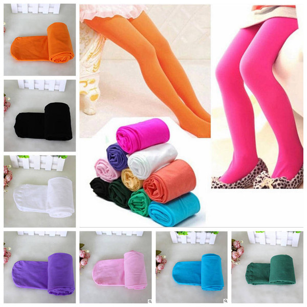 Girls Leggings Kids Ballet Dancing Tights Candy Colors Pants Velour Leggings Toddler Pantyhose Child Skinny Trousers Baby Girl Clothes YL336