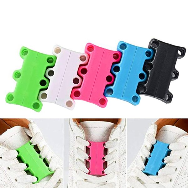 Demine Magnetic Shoelaces For Sneakers Shoes Buckles Closure No Tie Shoelace Easy For Sneakers