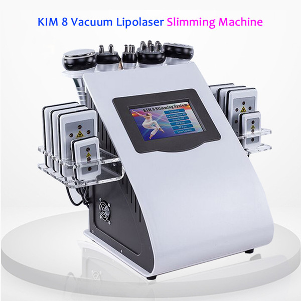 6 In 1 Ultrasonic 40K Cavitation Vacuum Radio Frequency 5Mhz RF Slimming Machine For Spa DHL Free Shipping