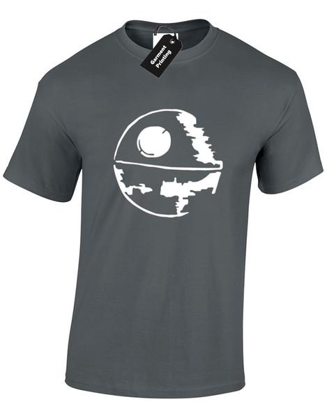 ÖLÜM YILDIZ SILHOUETTE MENS T GÖMLEK YıLDıZ TROOPER JEDI DARTH SAVAŞLARı YODA VADER Kısa Kollu Artı Boyutu t-shirt