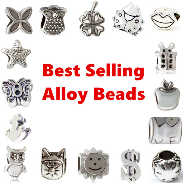 best selling Best Selling Alloy Charm Bead Loose Big Hole Fashion Women Jewelry Stunning European Style For Pandox Bracelet Necklace