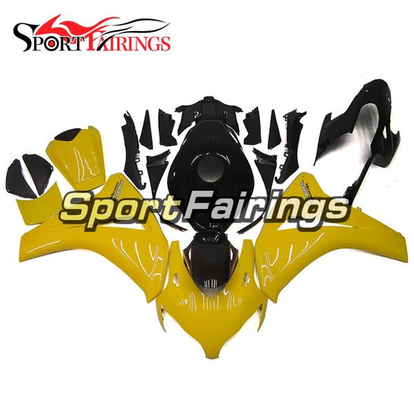 Yellow Black New Cowlings per Honda CBR1000RR 2008 2009 2010 2011 Fairing completo ABS Iniezione Moto moto Scafi